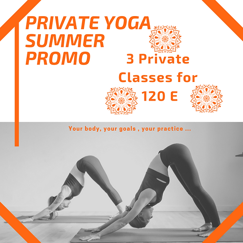 3 Private Yoga Promo