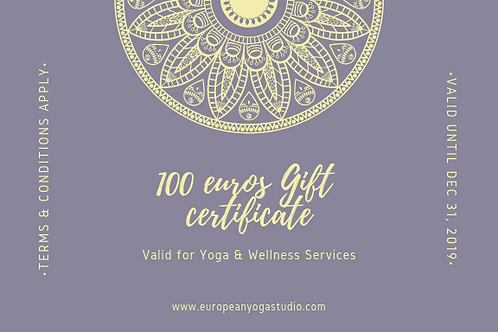 100 Euros Gift Certificate