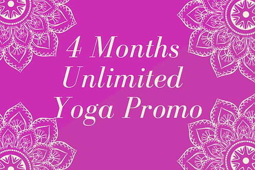 4 Months Unlimited Yoga Promo