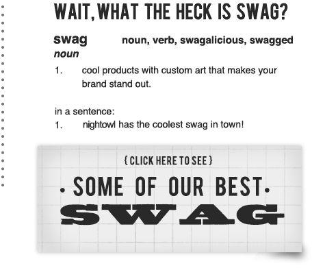 nightowl promotional solutons custom swag