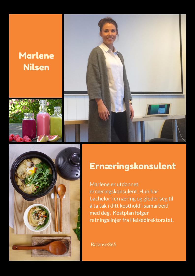 Ernæringskonsulent Marlene Nilsen