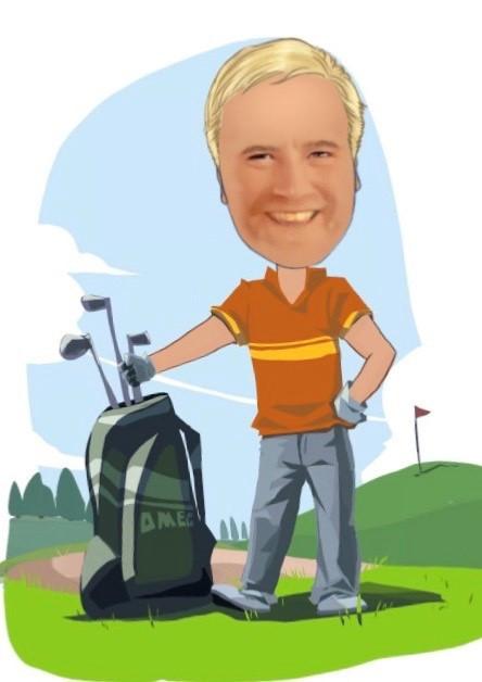 Tren for å bli en bedre golfspiller.