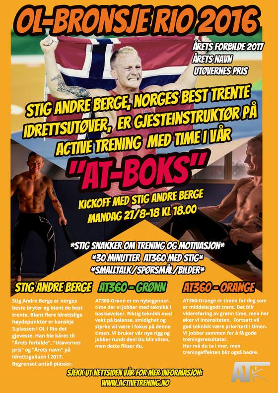 Nyåpning 27.august 2018  -se Stig Andre Berge lede trening i AT-boksen, sjekk tilbud og program!
