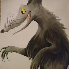 Traditional Wolf Painting