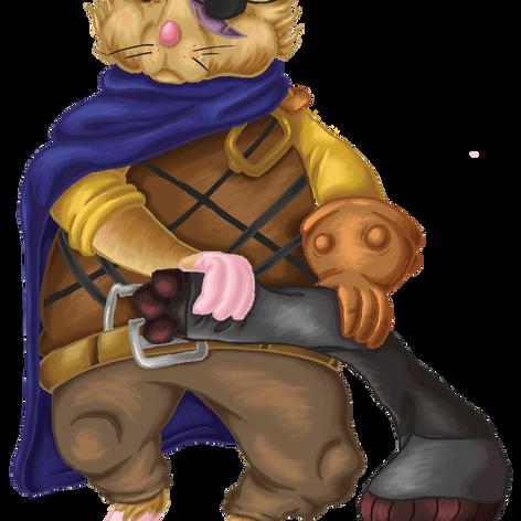 Bo the Warrior Hamster Character Art