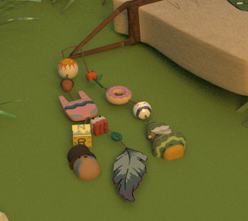 Keychain Model and Hand Painted Textures