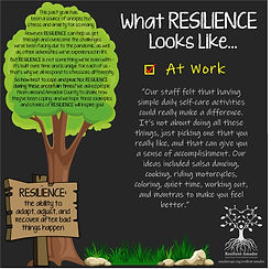Resilience Story - self care one idea at