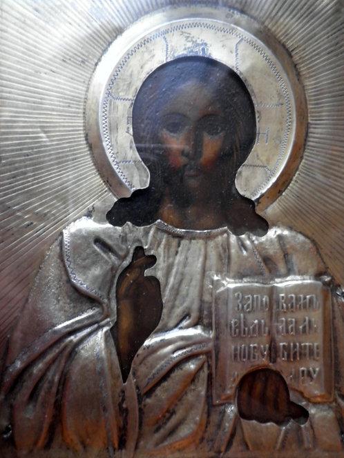 Икона в Серебренном окладе 84 проба