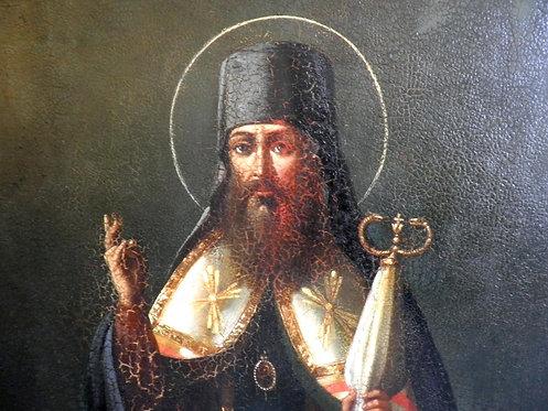 Икона Чудотворец Тихон Задонский.