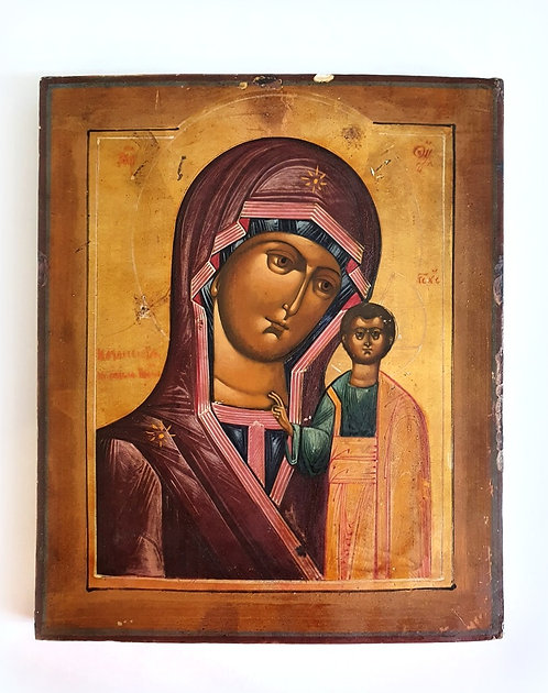 """Икона """"Казанская Богородица"""" 19 век"""