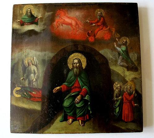 Икона Огненное восхождение Илии пророка