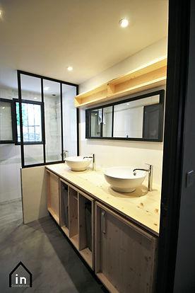 Meuble vasque bois métal Nantes