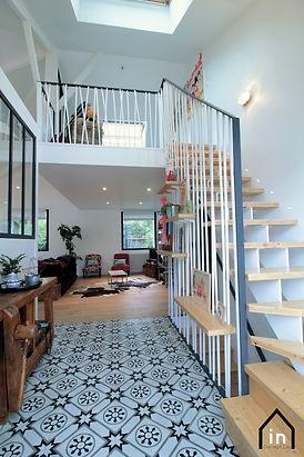 Escalier étagère bois métal Nantes