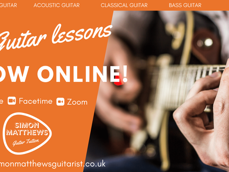 Guitar lessons now online!