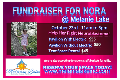 Nora Fundraiser Pavilion Tent Space Rental October 23rd 2021