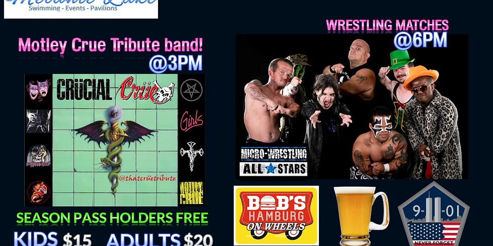 Motley Crue Tribute band Crucial Crue & Micro Wrestling Event!