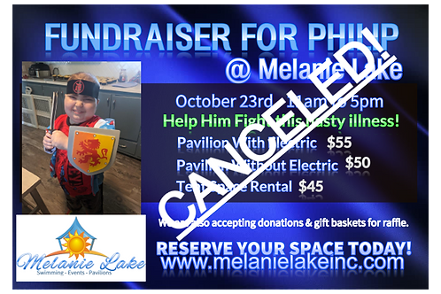 Philip  Fundraiser Pavilion Space Rental with Electric October 23rd