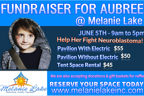 Aubree Fundraiser Pavilion Space Rental WITHOUT Electric