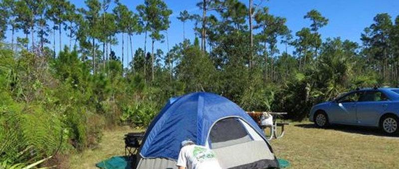 Camping Spot at Melanie Lake Overnight