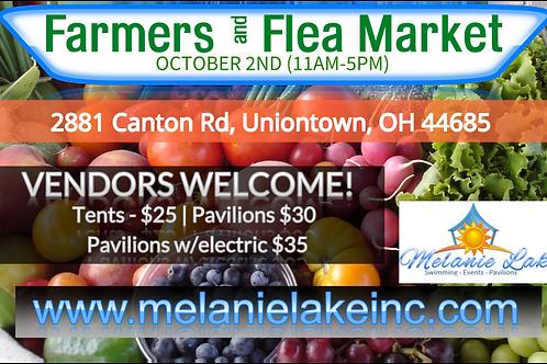 Farmers + Flea Market Pavilion Rental w\Electric