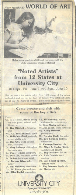 Feature ad for World of Art