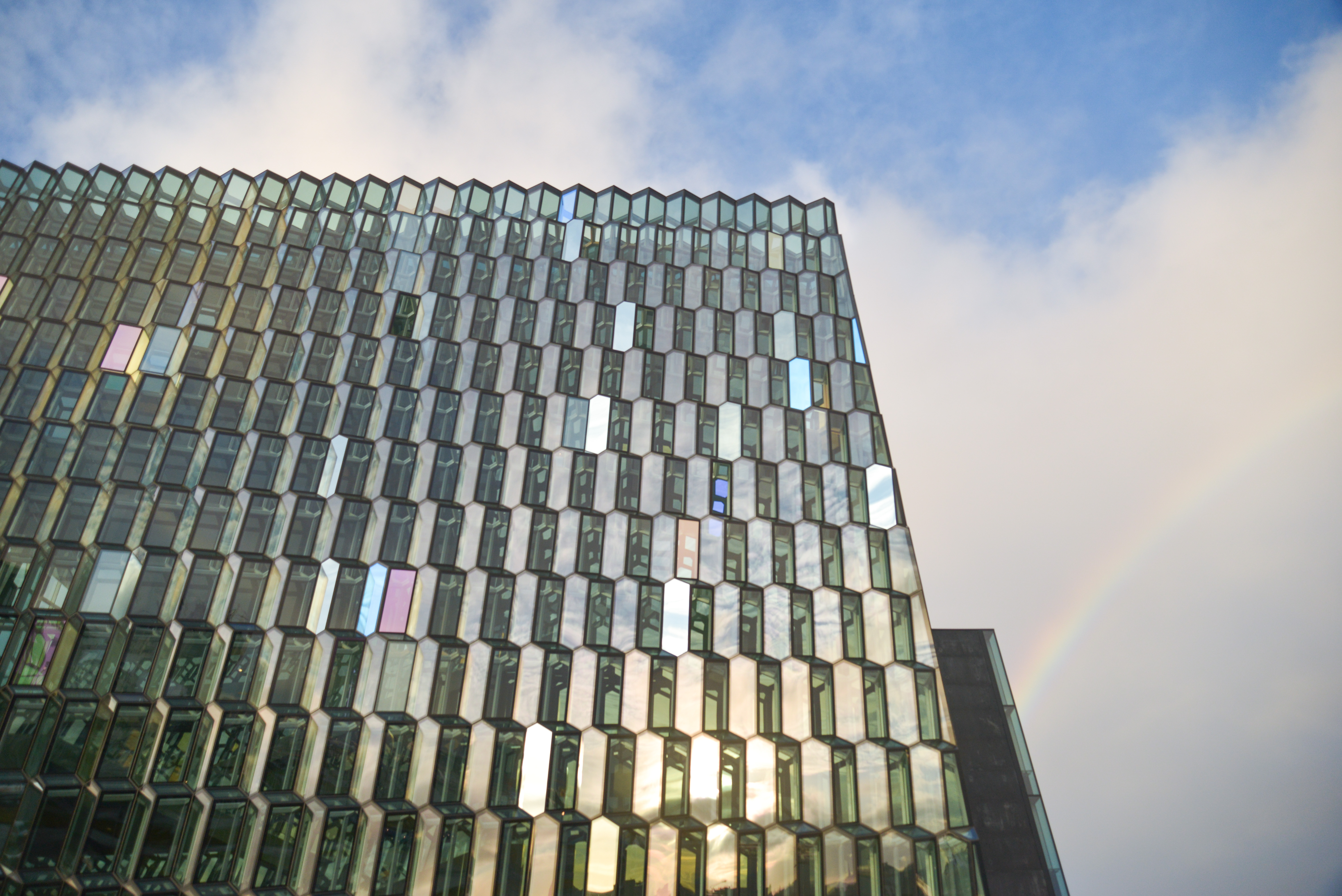 Rainbow over Harpa