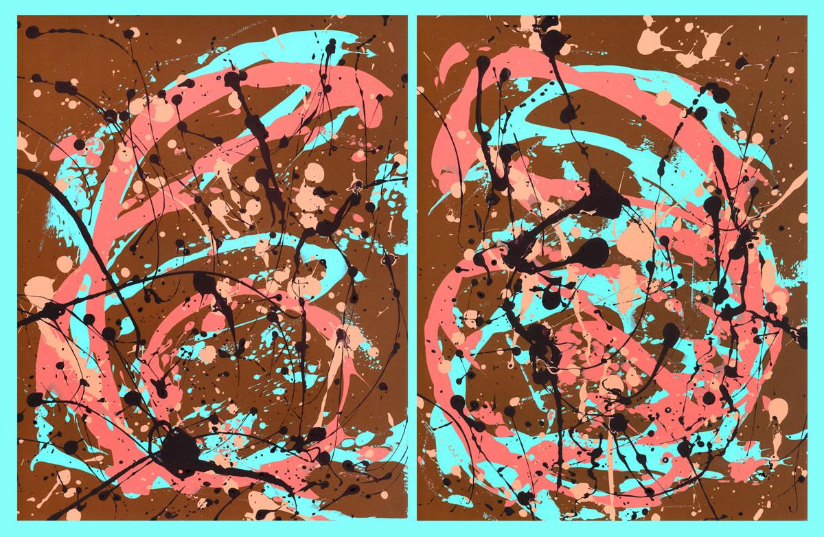 Paula Weech_Autumns Aura - Diptych - Acr
