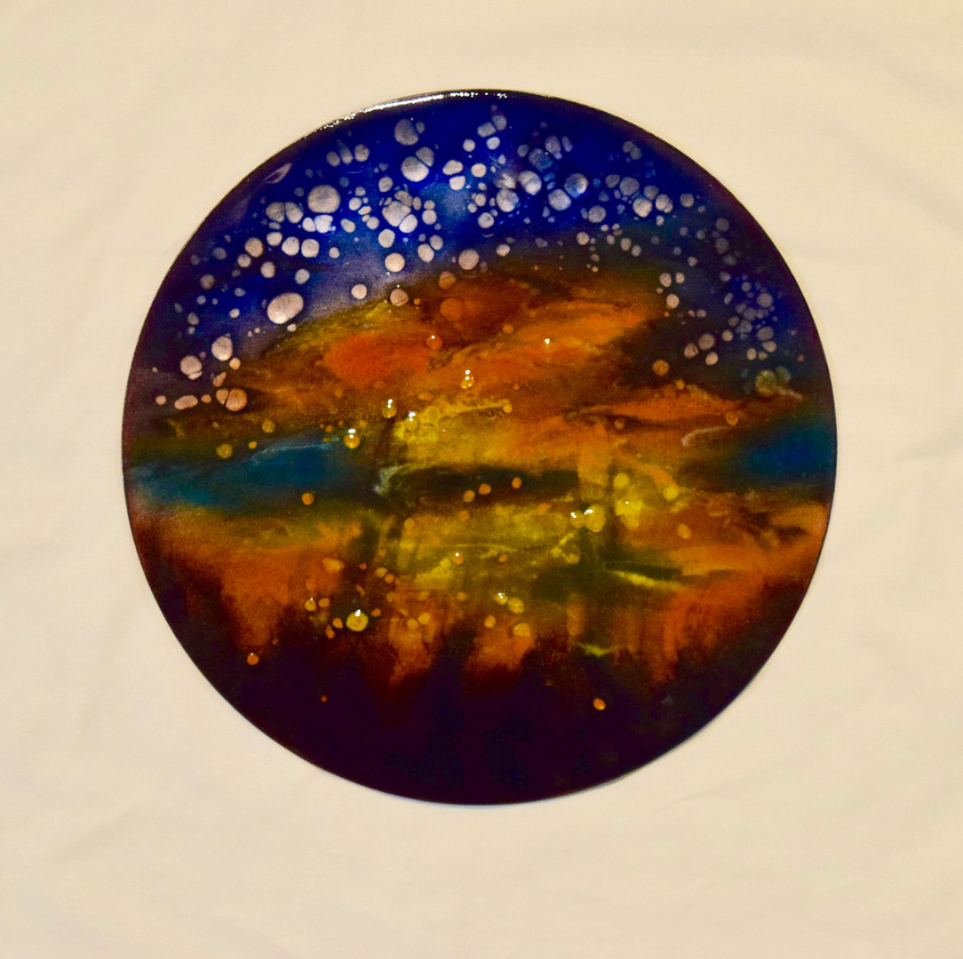 Cynthia Miller_Sunset Disc, $450, Glass