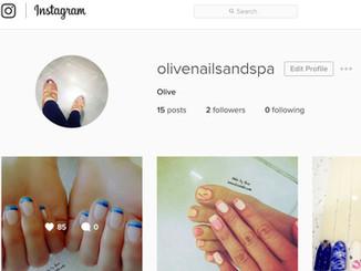 Find us at Instagram @olivenailsandspa