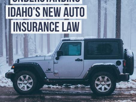 Understanding Idaho's New Auto Insurance Law