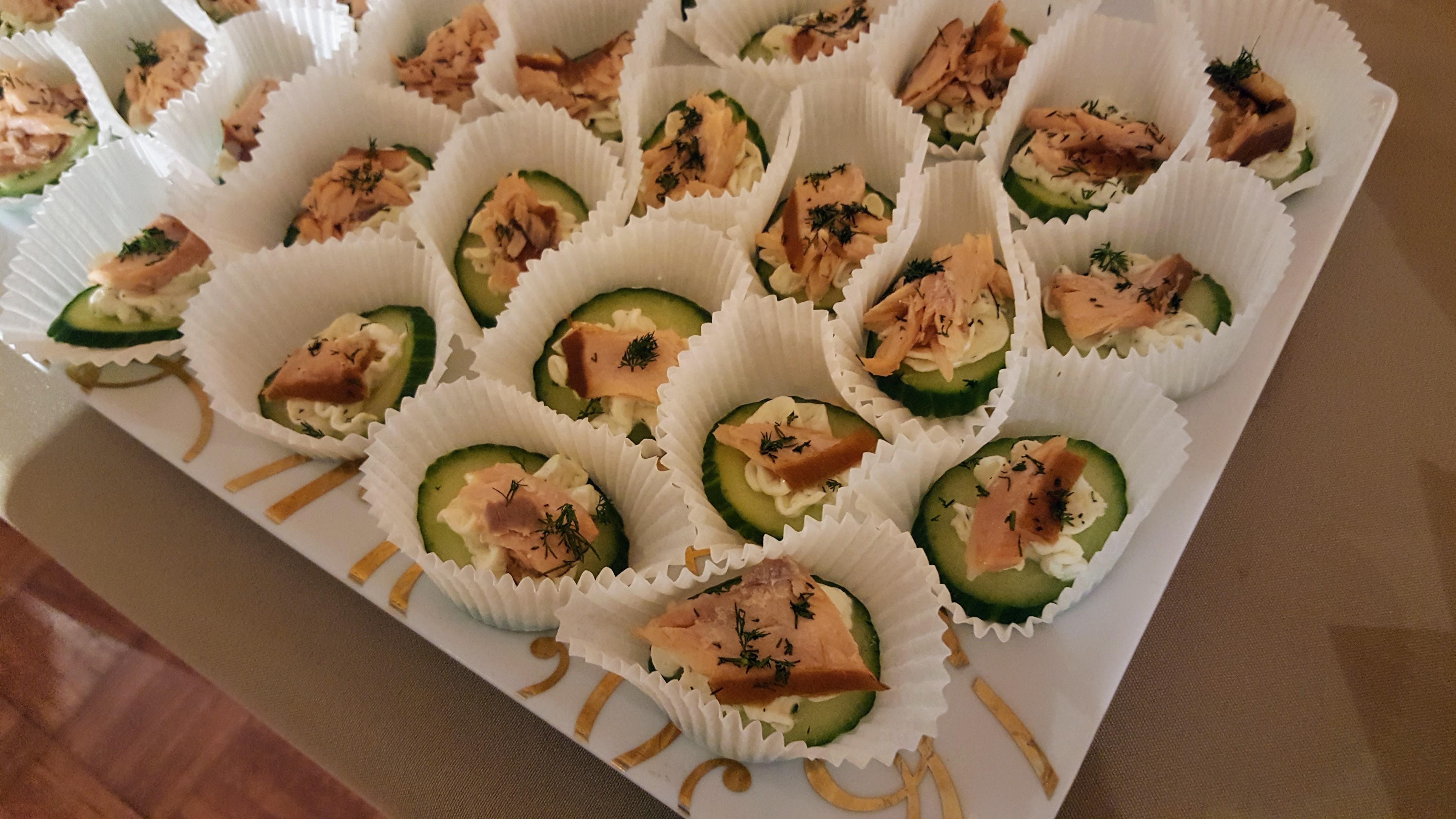 Cucumber Salmon Bites