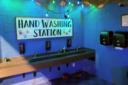 Aquarium Hand Washing Station