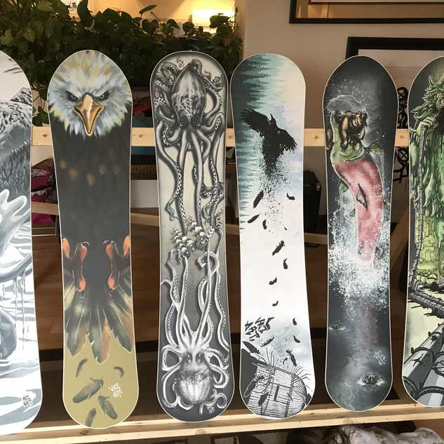 Custom Art Snowboards