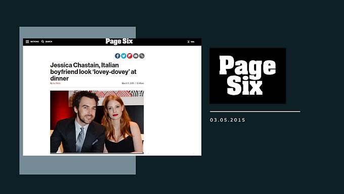 Jessica Chastain, Italian boyfriend look 'lovey-dovey' at dinner
