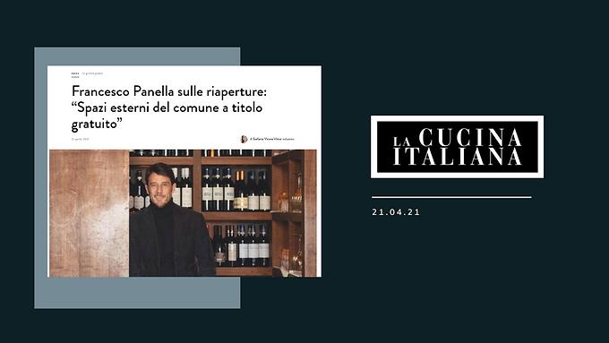 """Francesco Panella sulle riaperture: """"Spazi esterni del comune a titolo gratuito"""""""