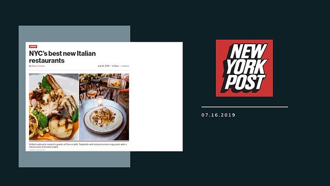 NYC's best new Italian restaurants