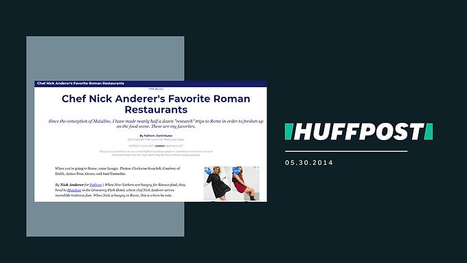 Chef Nick Anderer's Favorite Roman Restaurants