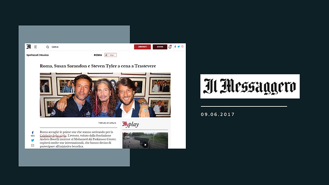ma, Susan Sarandon e Steven Tyler a cena a Trastevere