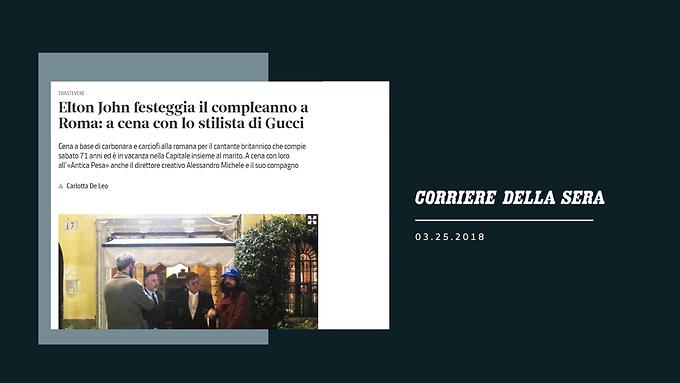 Elton John festeggia il compleanno a Roma: a cena con lo stilista di Gucci