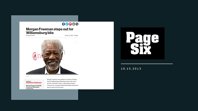 Morgan Freeman steps out for Williamsburg bite
