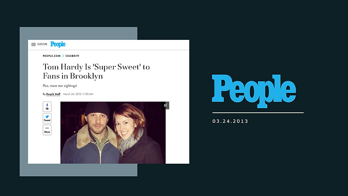 Tom Hardy Is 'Super Sweet' to Fans in Brooklyn