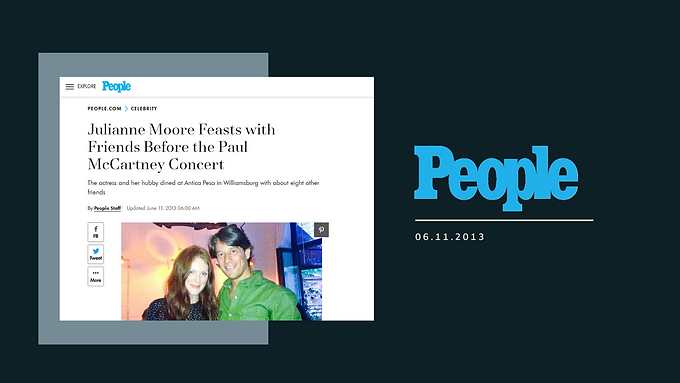 Julianne Moore Feasts with Friends Before the Paul McCartney Concert