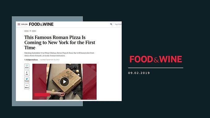 This Famous Roman Pizza Is Coming to New York for the First Time