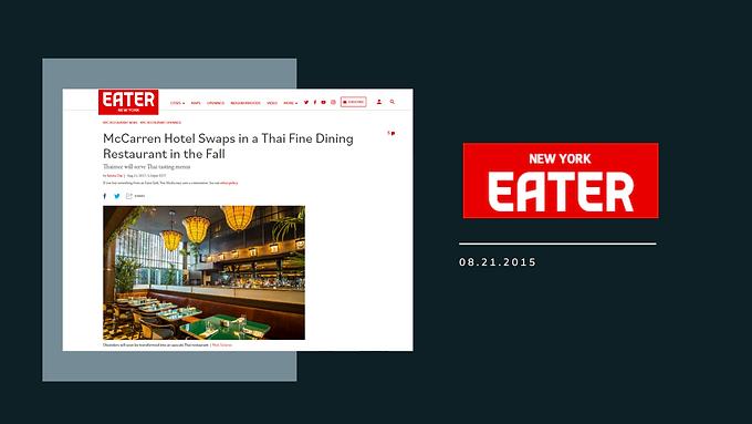 McCarren Hotel Swaps in a Thai Fine Dining Restaurant in the Fall