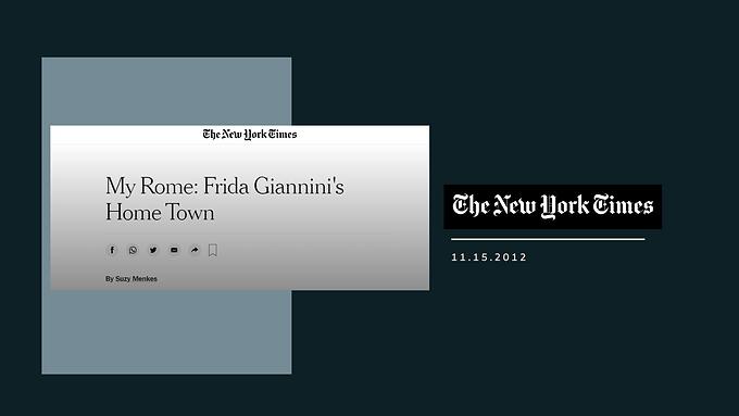 My Rome: Frida Giannini's Home Town