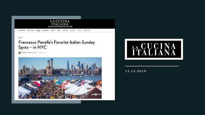 Francesco Panella's Favorite Italian Sunday Spots – in NYC