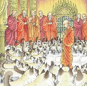 La légende du Sacré de Birmanie