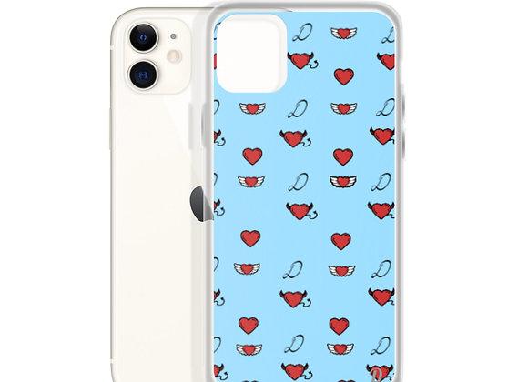 Blue Monogram iPhone Case