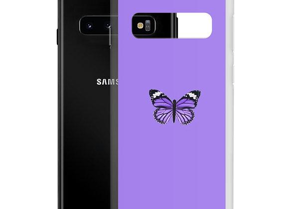 Purple Butterfly Samsung Case