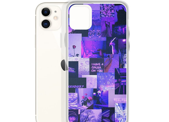 Purple Collage iPhone Case